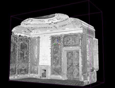 Стеклярусный кабинет. Точечная чернобелая модель.