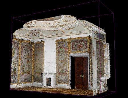 Стеклярусный кабинет. Точечная цветная модель