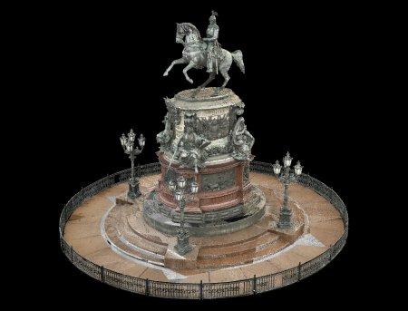 Памятник Николяю I. Точечная цветная модель.